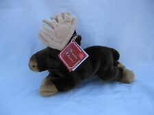 Yomiko Classics Plush Brown Cream Moose Stuffed Animal NWT Item # 12027