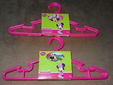 2 Disney Junior Minnie Mouse 4-Pack -Children's Plastic Hangers-Total Of 8-New