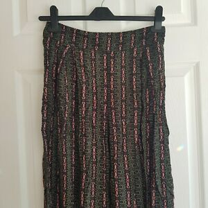 Abercrombie & Fitch Wide Leg Tribal Print Boho Trousers - Medium (New)