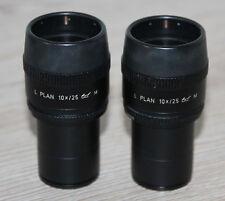 Leica MICROSCOPIO Microscope oculare L piano Occhiali 10x/25 con oculare micrometri
