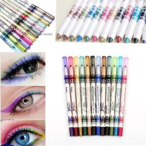 12 Color Eyeliner Lip Eyebrow Liner Pen Pencil Box WEDDING PARTY MAKEUP SALON