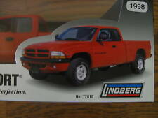 1998 Dodge Dakota Sport truck promotional model 1:25 Lindberg Chrysler MIB