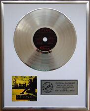 """Sting Ten Summoner's Tales CD/Cover gerahmt + 12""""Deko goldene Vinyl Schallplatte"""