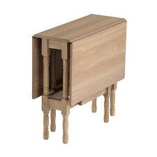 Drop Leaf Table HEATPROOF Folding Dining Kitchen Gateleg Seat 6 Natural Oak