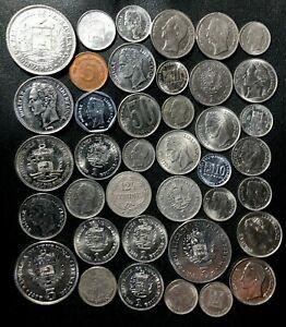 Old Venezuela Coin Lot - 1944-Present - 37 Great Coins - Lot #J18