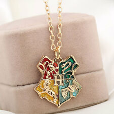 Fashion Harry Potter Magic School Badge Pendant Chain Necklace For Fans Adult