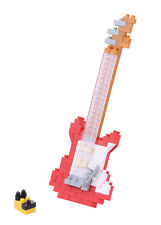 Red Guitar Nanoblock Miniature Building Blocks New Sealed Pk NBC171