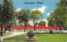 Westlake Ohio Schneiders Motel Street View Vintage Postcard K59276