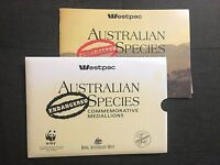 1992 ENDANGERED SPECIES WESTPAC Collection of Medals in Booklet  (SC6/C8)