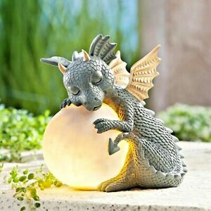 Dinosaur Meditate Statue Sculpture Figurine Tabletop Home Garden Office Decor S