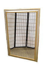 Silver & Gold Transitional Style Beveled Glass Rectangular Mirror
