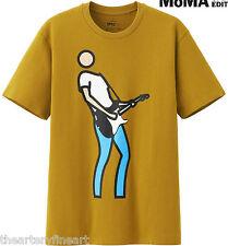 JULIAN OPIE x UNIQLO 'Bryan Plays Guitar' SPRZ NY Graphic Art T-Shirt L **NEW**