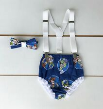 Toy Story Print Cake Smash Outfit - 1st Birthday Outfit