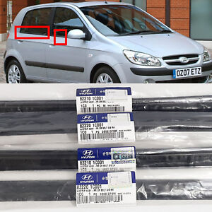 Only EMS Window OutSide Rubber Molding Left Right 4p For Hyundai Getz 2006-2011