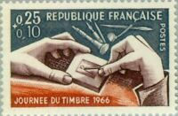 EBS France 1966 Stamp Day - Engraving - Journée du Timbre - Gravure MNH** YT1477