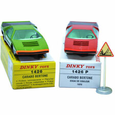1:43 Dinky Toys 2pcs Set 1426 Alfa Romeo CARABO BERTONE Diecast Atlas Car Model