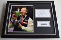 John Higgins SIGNED FRAMED Photo Autograph 16x12 display Snooker AFTAL & COA
