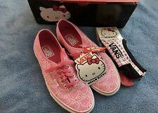 NIB Authentic Vans Women's Hello Kitty Sneakers in Pink/TrueWhite Size 10 US
