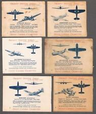 1940's C271 Aircraft Spotter English Only Tobacco Cards Lot of 93