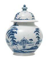 """JULISKA Country Estate Delft Blue Lidded Ginger Jar 10"""""""