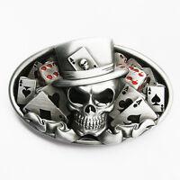 Dice Skull Tattoo Poker Casino Belt Buckle Gurtelschnalle also Stock in US