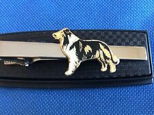 Collie Rough Collie Dog Breed Gift Tie Clip Clasp Pin Neckties Ties Emblem Logo