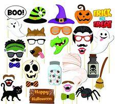 35PCS Halloween Party Supplies Card Masks Pumpkin Photo Booth Props Mustache US