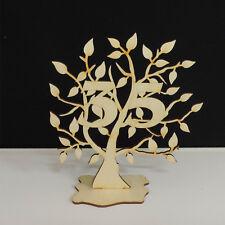 Jubiläumsbaum Geburtstag, 35 Jahre aus Holz 16cm Lebensbaum Geschenk Hochzeit