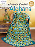 Hooked on Crochet Afghans Instruction Patterns Peacock Daisies Tunisian NEW