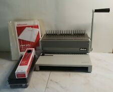 Ibico Ibimatic Binder Binding Machine With Clear Poly Binding Covers Amp Combs