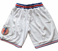 Space Jam Tune Squad Movie Basketball Jersey Shorts White Stitched S-3XL
