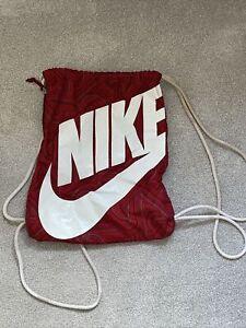 Nike Red And White Designer Gym Bag Sack - Drawstring Bag