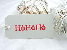 10 Bling Bling HO HO HO Christmas  Gift Tags White Tags Handmade