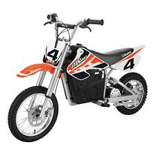 Razor MX650 Dirt Rocket High-Torque Electric Motocross Dirt Bike, 17 MPH, Orange