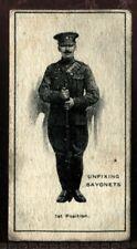 Tobacco Card, Imperial Canada, INFANTRY TRAINING, 1915, Unfix Bayonets, #20