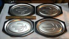 4 Nordic Ware Steak Plates Platters Fajita Serv-a-Sizzle Cactus Pattern