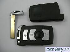 BMW 7 er E65 E66 E67 Fernbedienung Cover Schlüssel Gehäuse Neu 4 Tasten +Rohling