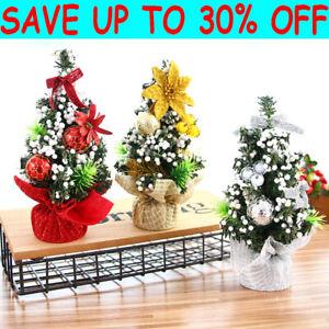Christmas Tree Xmas Tabletop Mini Artificial Ornament Tree Home Party Decor UK