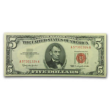 1963 $5.00 U.S. Note Red Seal CU - SKU #104628