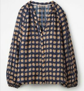 BODEN Harriet Blouse Dark Navy, Size 18 New Without Tags, RRP £65
