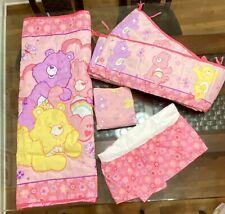 Care Bears Baby Girls 4Pc Nursery Crib Bedding Set: Blanket Sheet Bumper Skirt