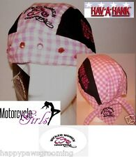 Wicked Women Choppers GOOD GIRL GONE BIKER LINED FITTED BANDANA Lined Doo Do Rag