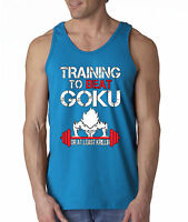 New Way 210 - Men's Tank-Top Training To Beat Goku Krillin Gym Dragon Ball Z