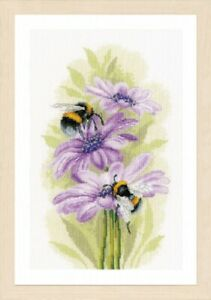 Dancing Bees  - Lanarte Counted Cross Stitch Kit w/27 Ct Evenweave