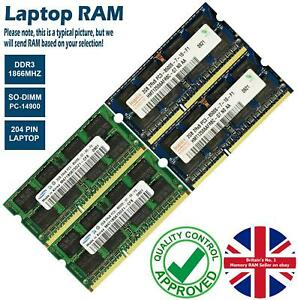 2GB 4GB 8GB Memory RAM Laptop PC3-14900 DDR3 1866MHz 204 Pin Non-ECC Lot