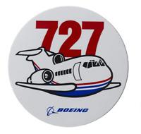 NEW Boeing 727 Pudgy Sticker, UPC# 580080040034