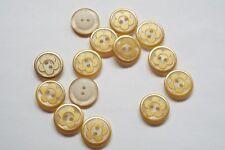 10pc ORO 12mm con camicia fiori Tuta Cardigan Maglieria Bambini pulsante 1105