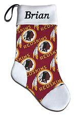 Personalized NFL Washington Redskins Football Christmas Stocking Embroidered