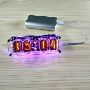 IN-12 Nixie Clock 4-Digit DS3231 Nixie Clock Colorful LED Backlight Version