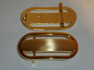 Gürtelschnalle für 3 cm breite Gürtel gold Schnalle Buckle Schließe Verschluss